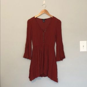 Rust colored flowy dress